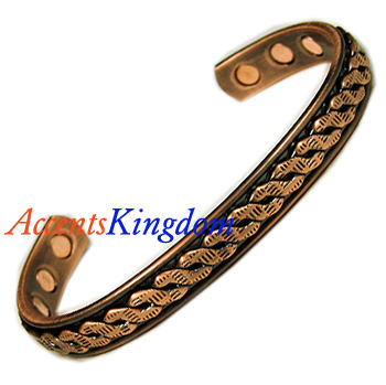 COPPER MAGNETIC BRACELETS (COPPRE PLATED) ON SALE NOW